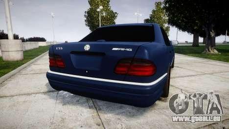 Mercedes-Benz W210 E55 2000 AMG Vossen VVS CVT pour GTA 4 Vue arrière de la gauche