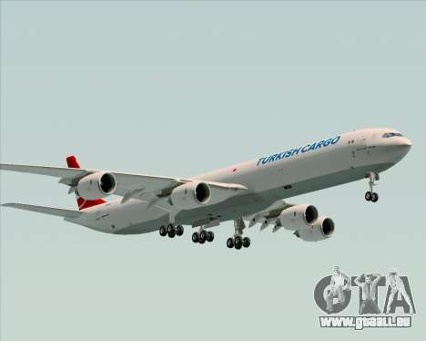 Airbus A340-600 Turkish Cargo pour GTA San Andreas sur la vue arrière gauche