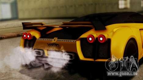 Ferrari Velocita 2013 SA Plate pour GTA San Andreas vue arrière