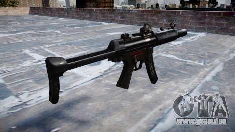 Pistolet MP5SD DRS FS b cible pour GTA 4 secondes d'écran