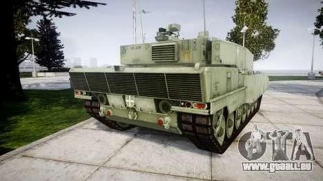 Leopard 2A7 EU Green für GTA 4 hinten links Ansicht