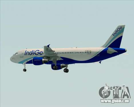 Airbus A320-200 IndiGo für GTA San Andreas Rückansicht