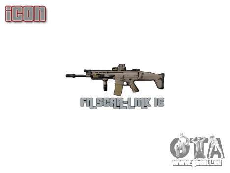 Maschine FN SCAR-L Mk 16 Ziel icon3 für GTA 4 weiter Screenshot