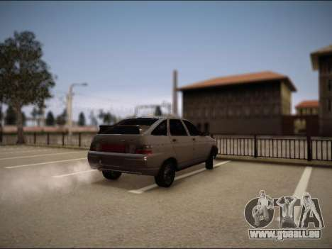 VAZ 2112 pour GTA San Andreas sur la vue arrière gauche