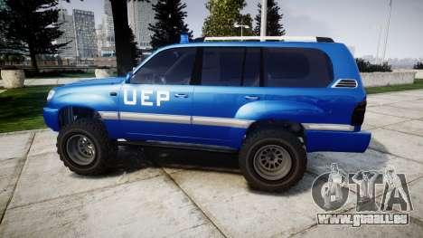 Toyota Land Cruiser 100 UEP blue [ELS] für GTA 4 linke Ansicht