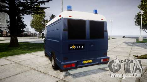 Mercedes-Benz Vario 614D SWAT [ELS] pour GTA 4 Vue arrière de la gauche