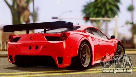 Ferrari 62 F458 2011 für GTA San Andreas linke Ansicht