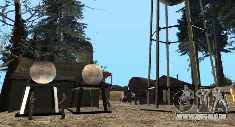 L'Altruiste camp sur le mont Chiliade pour GTA San Andreas sixième écran