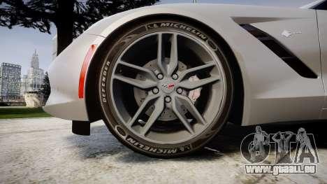 Chevrolet Corvette C7 Stingray 2014 v2.0 TireMi2 pour GTA 4 Vue arrière