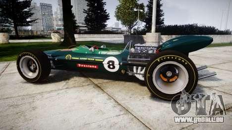 Lotus 49 1967 green pour GTA 4 est une gauche
