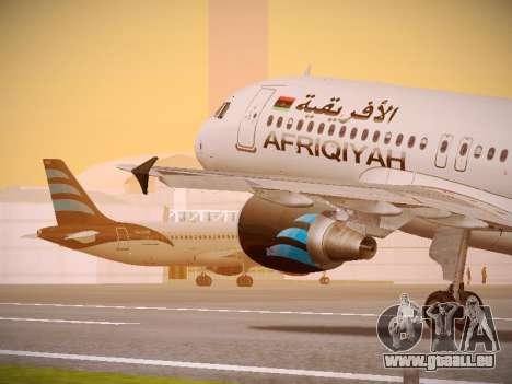 Airbus A320-214 Afriqiyah Airways pour GTA San Andreas salon
