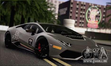 Lamborghini Huracan LP610-4 2015 für GTA San Andreas Seitenansicht