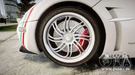 Pagani Huayra 2013 für GTA 4 Rückansicht
