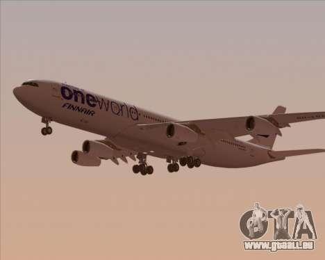 Airbus A340-300 Finnair (Oneworld Livery) pour GTA San Andreas vue intérieure