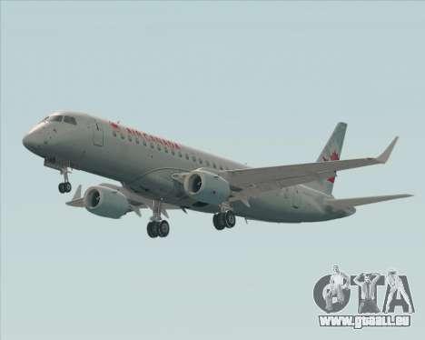 Embraer E-190 Air Canada pour GTA San Andreas sur la vue arrière gauche