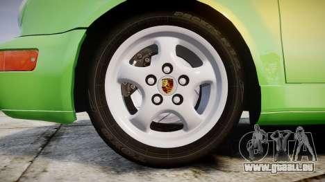 Porsche 911 (964) Cabrio für GTA 4 Rückansicht