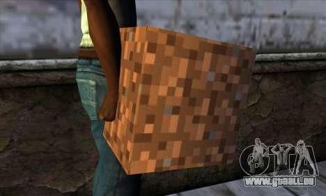 Bloc (Minecraft) v9 pour GTA San Andreas troisième écran