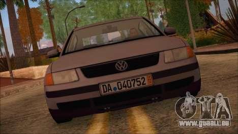 Volkswagen Passat für GTA San Andreas zurück linke Ansicht