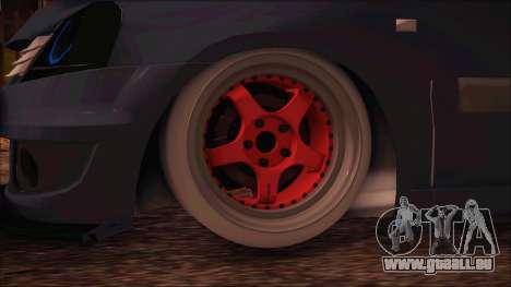 Dacia Logan MCV Tuning für GTA San Andreas zurück linke Ansicht