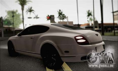 Bentley Continental Supersports pour GTA San Andreas laissé vue