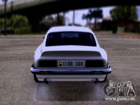 Lampadati Pigalle GTA V pour GTA San Andreas vue de droite