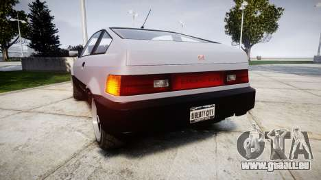 Dinka Blista Compact Sport pour GTA 4 Vue arrière de la gauche