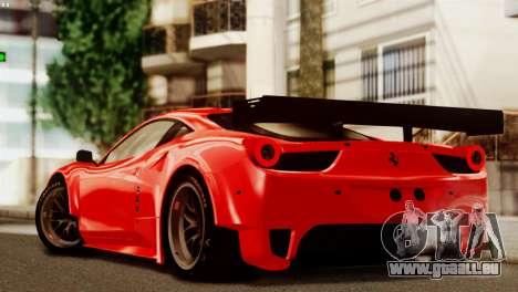 Ferrari 62 F458 2011 pour GTA San Andreas vue de dessous