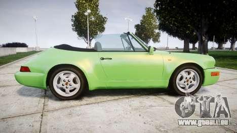 Porsche 911 (964) Cabrio für GTA 4 linke Ansicht