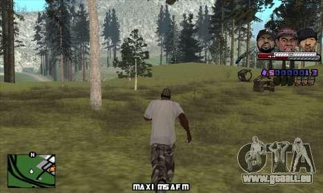 C-HUD Ice Rad Tyga pour GTA San Andreas deuxième écran