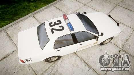 GTA V Vapid Police Cruiser Rotor [ELS] für GTA 4 rechte Ansicht