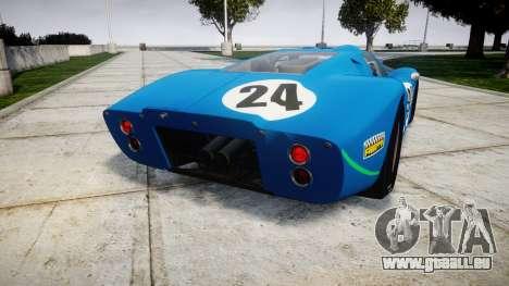 Ford GT40 Mark IV 1967 PJ Equipe Bouchard 24 für GTA 4 hinten links Ansicht