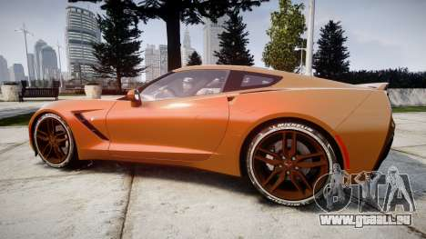 Chevrolet Corvette C7 Stingray 2014 v2.0 TireMi4 für GTA 4 linke Ansicht