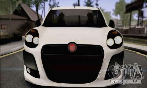 Fiat Doblo 2010 Edit pour GTA San Andreas sur la vue arrière gauche