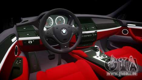 BMW X6M rims1 für GTA 4 Innenansicht