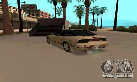 Nissan 240SX Rusted pour GTA San Andreas sur la vue arrière gauche