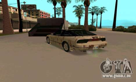 Nissan 240SX Rusted für GTA San Andreas zurück linke Ansicht