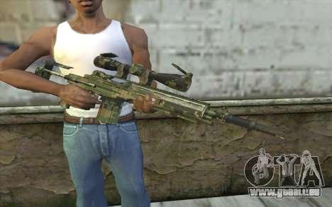 M14 EBR Digiwood pour GTA San Andreas troisième écran