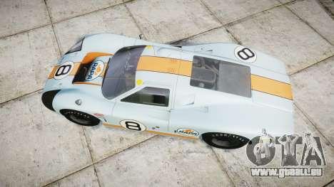 Ford GT40 Mark IV 1967 PJ RAPA olio 8 für GTA 4 rechte Ansicht