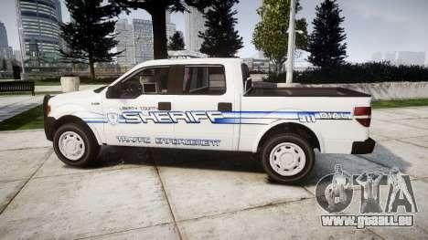 Ford F-150 [ELS] Liberty County Sheriff pour GTA 4 est une gauche