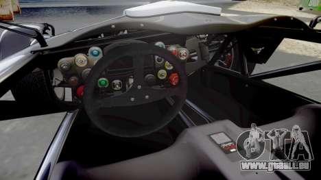 Ariel Atom V8 2010 [RIV] v1.1 RAPA olio pour GTA 4 est une vue de l'intérieur