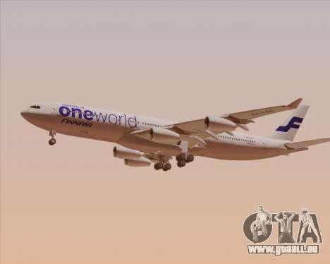 Airbus A340-300 Finnair (Oneworld Livery) pour GTA San Andreas sur la vue arrière gauche