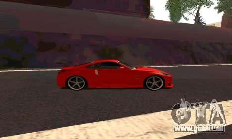 Nissan 350Z Tune für GTA San Andreas zurück linke Ansicht