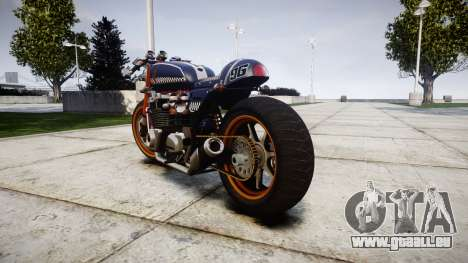 Honda CB750 cafe racer für GTA 4 hinten links Ansicht