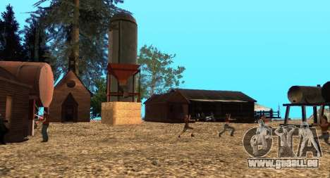 Der Altruist camp am mount Chiliad für GTA San Andreas neunten Screenshot
