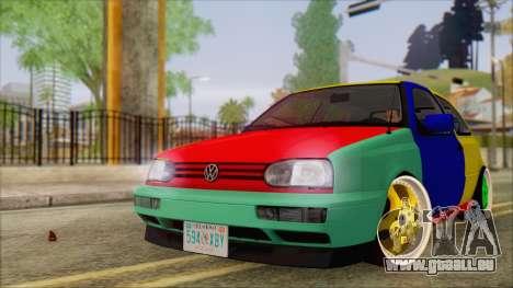 Volkswagen Golf Mk3 Harlequin Design pour GTA San Andreas