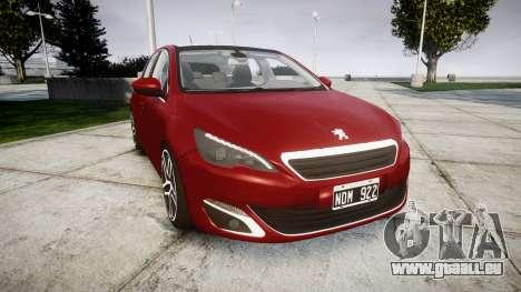 Peugeot 308 2015 pour GTA 4