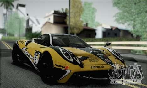 Pagani Huayra TT Ultimate Edition pour GTA San Andreas vue de droite