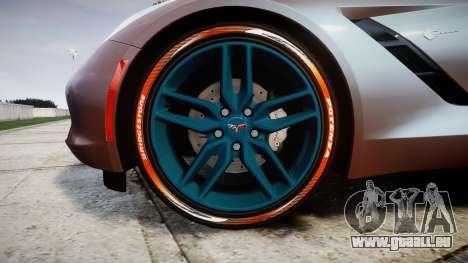 Chevrolet Corvette C7 Stingray 2014 v2.0 TireBr1 für GTA 4 Rückansicht