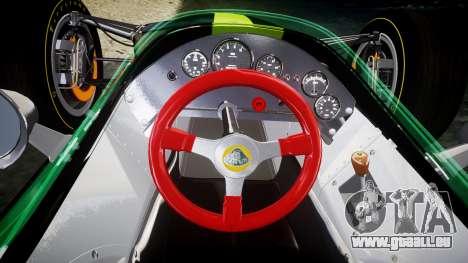 Lotus 49 1967 green pour GTA 4 Vue arrière