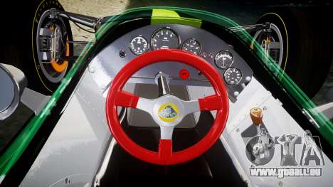 Lotus 49 1967 green für GTA 4 Rückansicht